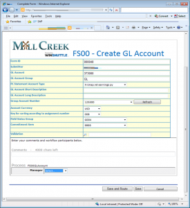 Create GL account